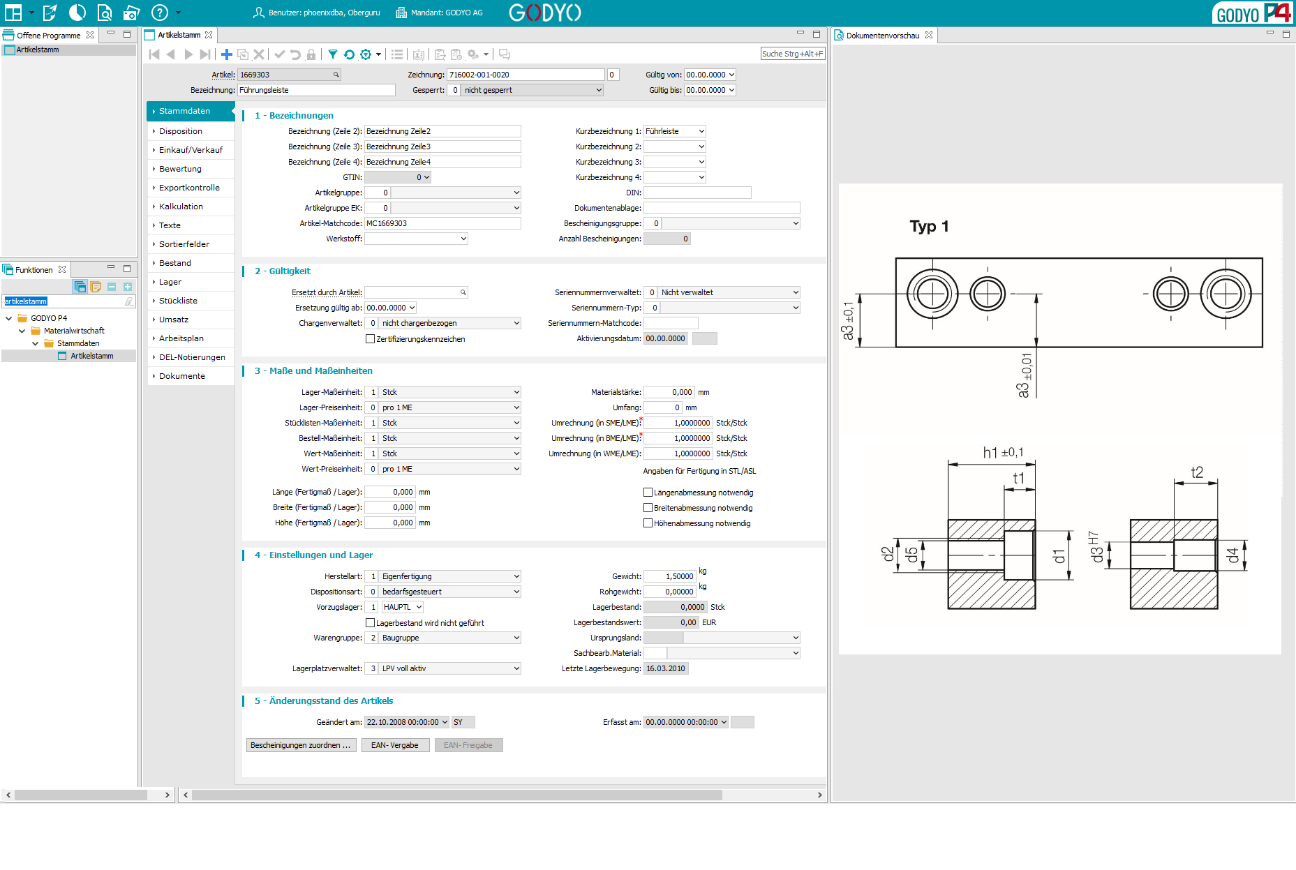 GODYO P4 DMS-Vorschau | Vollständiges Dokumentenmanagementsystem mit Integration ins ERP-System